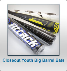 Closeout bats for Combat portent youth big barrel