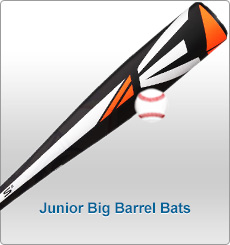 Junior Big Barrel Baseball Bats