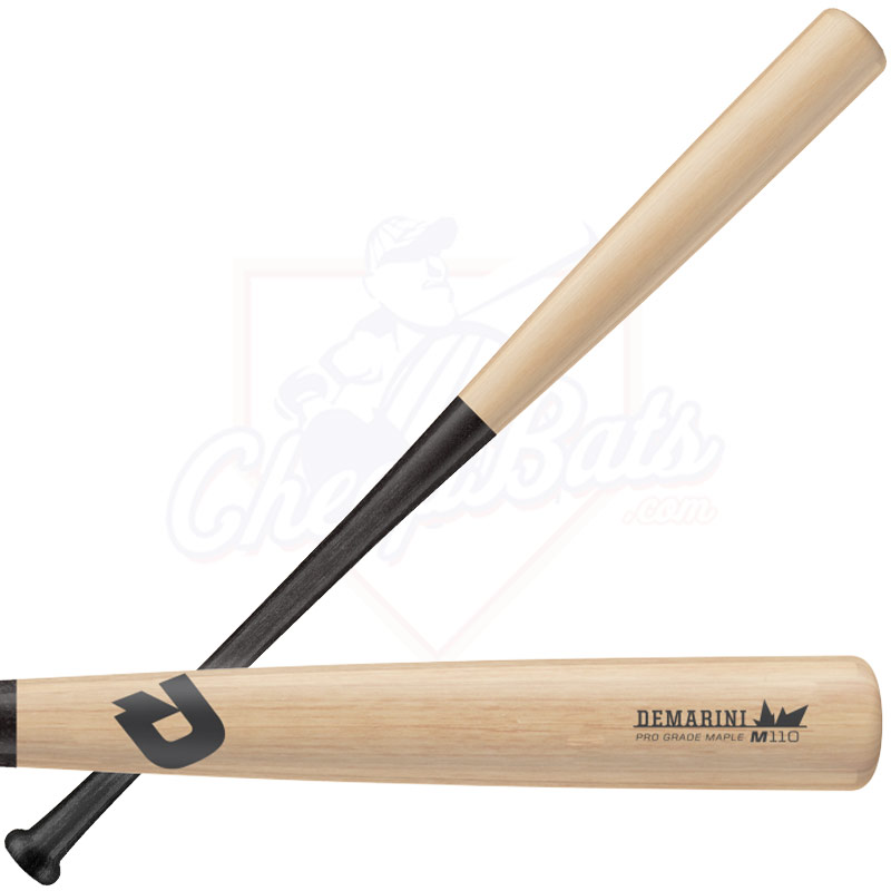 DeMarini Pro Maple 110 Wood Baseball Bat (Natural/Black) WTDX110NBM