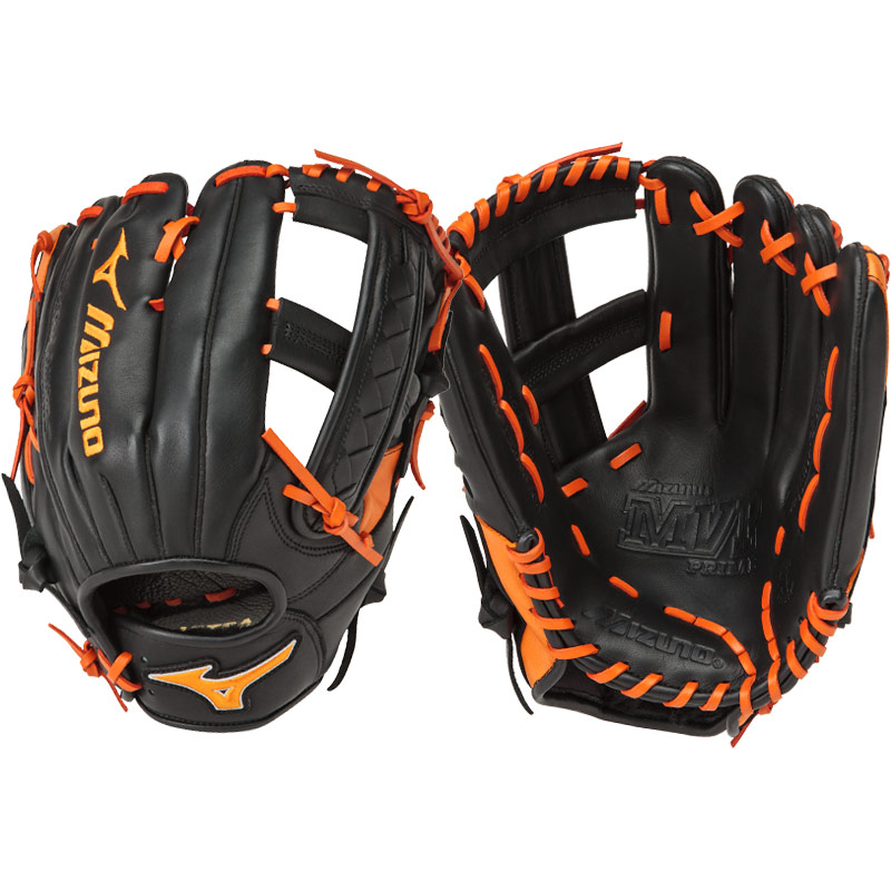 "Mizuno MVP Prime SE Slowpitch Softball Glove 12.50"" Black/Orange GMVP1250PSES5 312477"