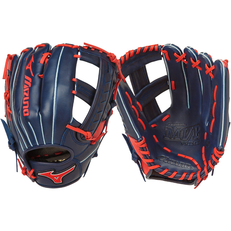 "Mizuno MVP Prime SE Slowpitch Softball Glove 12.50"" Navy/Red GMVP1250PSES5 312477"