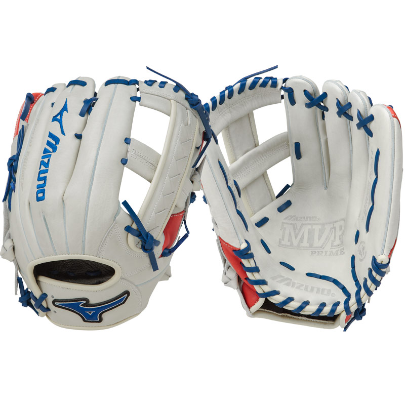 "Mizuno MVP Prime SE Slowpitch Softball Glove 12.50"" Silver/Red/Navy GMVP1250PSES5 312477"