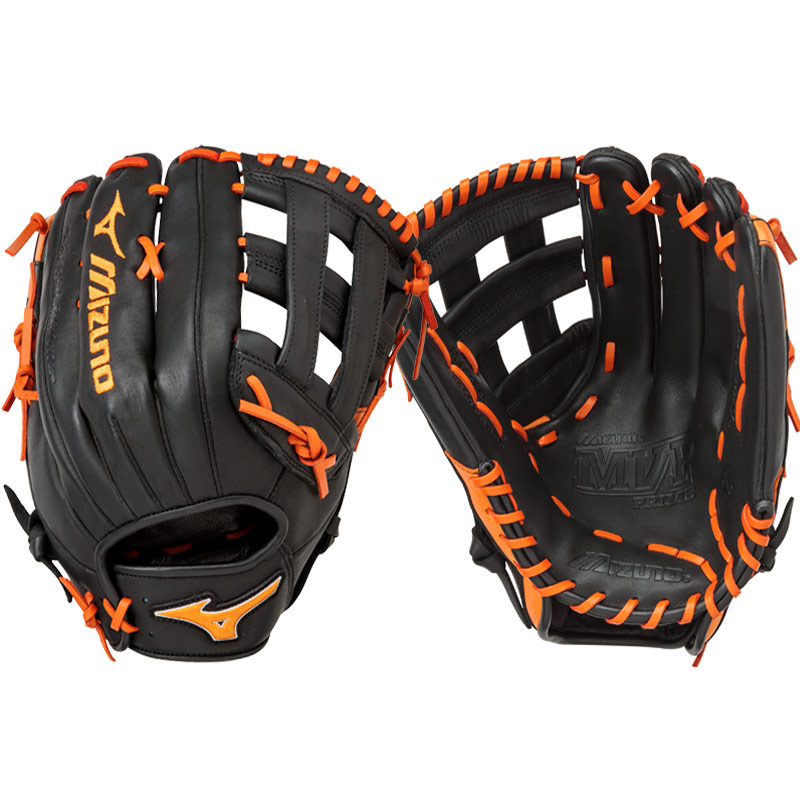 "Mizuno MVP Prime SE Slowpitch Softball Glove 13"" Black/Orange GMVP1300PSES5 312478"