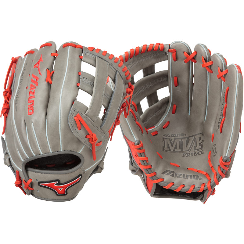 "Mizuno MVP Prime SE Slowpitch Softball Glove 13"" Smoke/Red GMVP1300PSES5 312478"