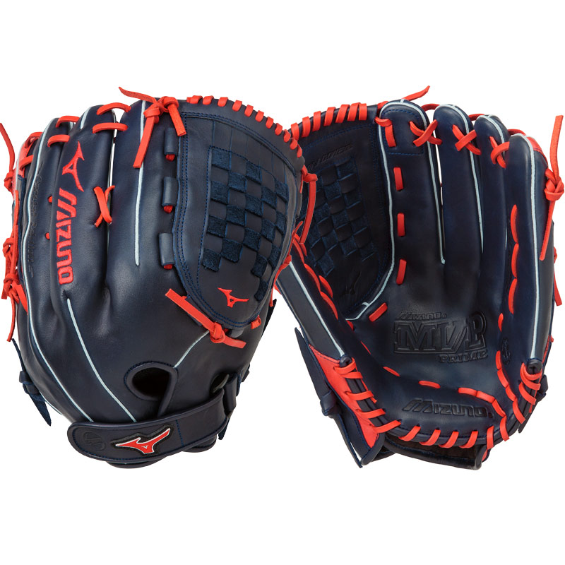 "Mizuno MVP Prime SE Slowpitch Softball Glove 14"" Navy/Red GMVP1400PSES5 312479"