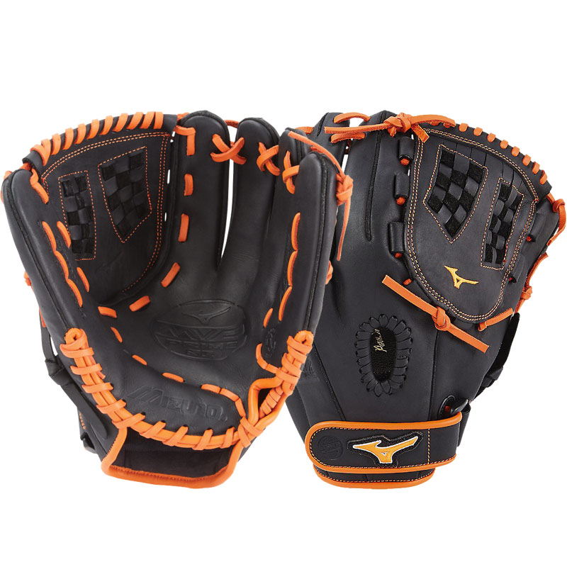 "Mizuno MVP Prime SE Fastpitch Softball Glove 12"" Black/Orange GMVP1200PSEF6 312518"