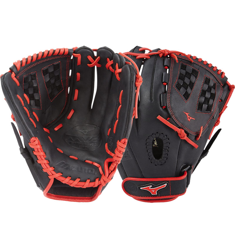 "Mizuno MVP Prime SE Fastpitch Softball Glove 12"" Black/Red GMVP1200PSEF6 312518"