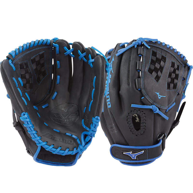 "Mizuno MVP Prime SE Fastpitch Softball Glove 12"" Black/Royal GMVP1200PSEF6 312518"