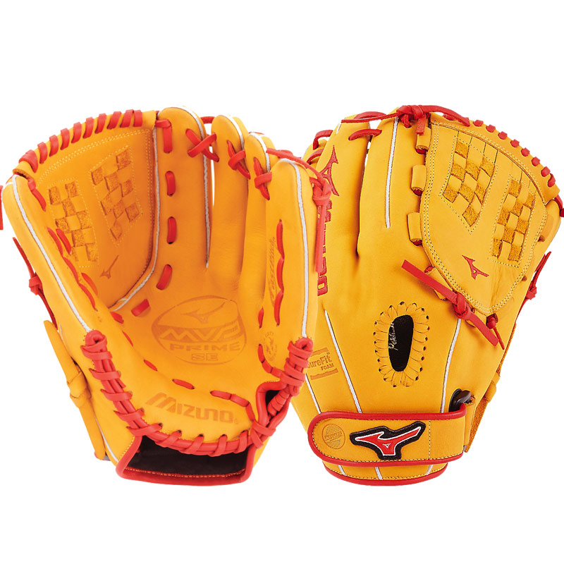 "Mizuno MVP Prime SE Fastpitch Softball Glove 12"" Cork/Red GMVP1200PSEF6 312518"
