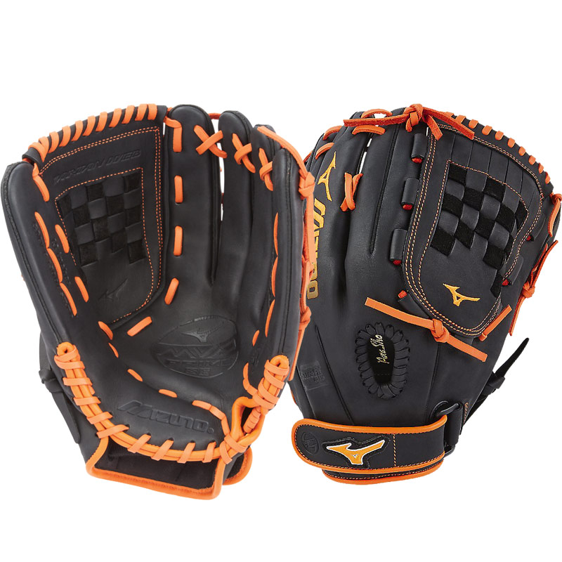 "Mizuno MVP Prime SE Fastpitch Softball Glove 13"" Black/Orange GMVP1300PSEF6 312520"