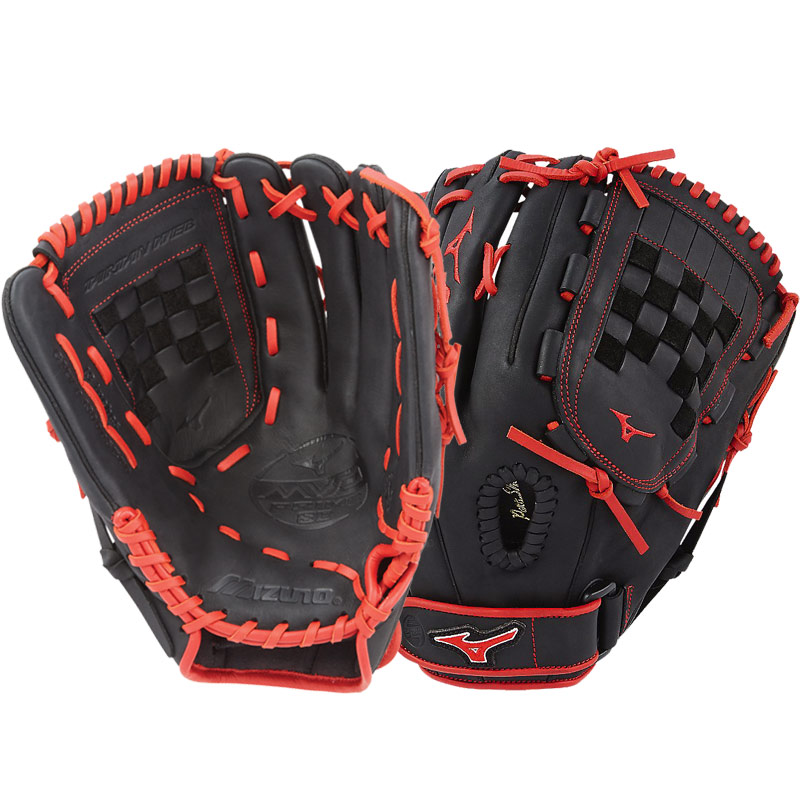 "Mizuno MVP Prime SE Fastpitch Softball Glove 13"" Black/Red GMVP1300PSEF6 312520"