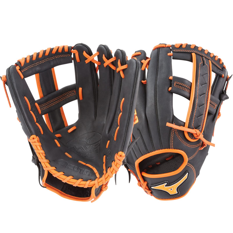 "Mizuno MVP Prime SE Slowpitch Softball Glove 12.5"" Black/Orange GMVP1250PSES6 312528"