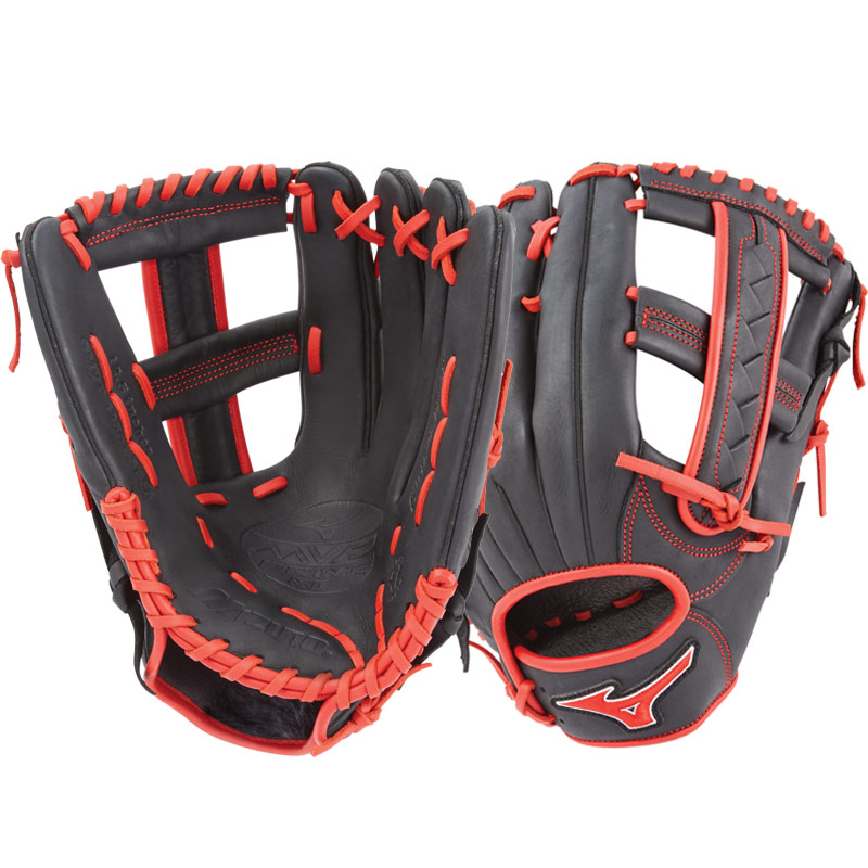"Mizuno MVP Prime SE Slowpitch Softball Glove 12.5"" Black/Red GMVP1250PSES6 312528"