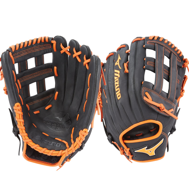"Mizuno MVP Prime SE Slowpitch Softball Glove 13"" Black/Orange GMVP1300PSES6 312530"