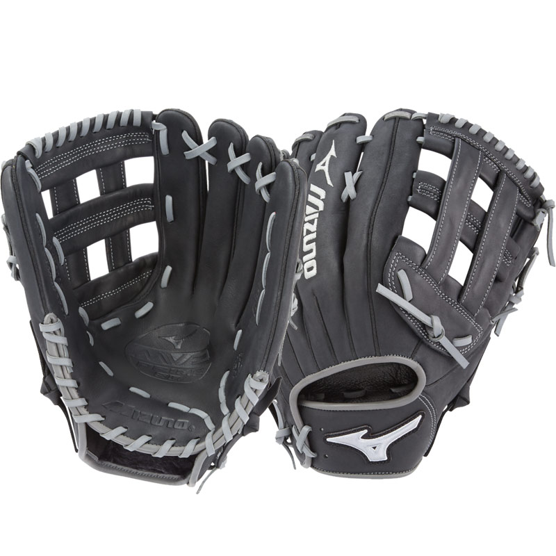 "Mizuno MVP Prime SE Slowpitch Softball Glove 13"" Black/Smoke GMVP1300PSES6 312530"