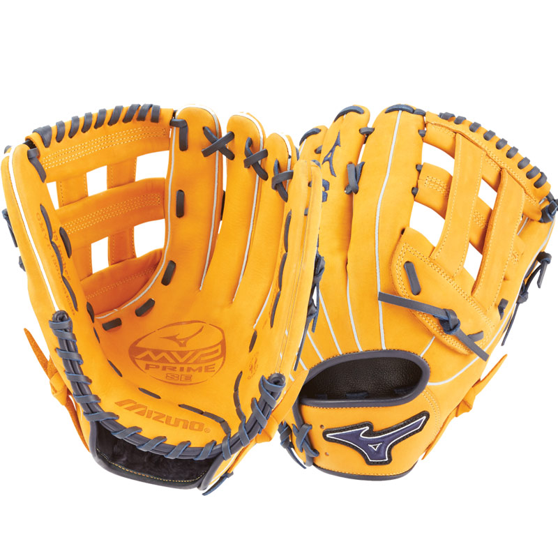 "Mizuno MVP Prime SE Slowpitch Softball Glove 13"" Cork/Navy GMVP1300PSES6 312530"