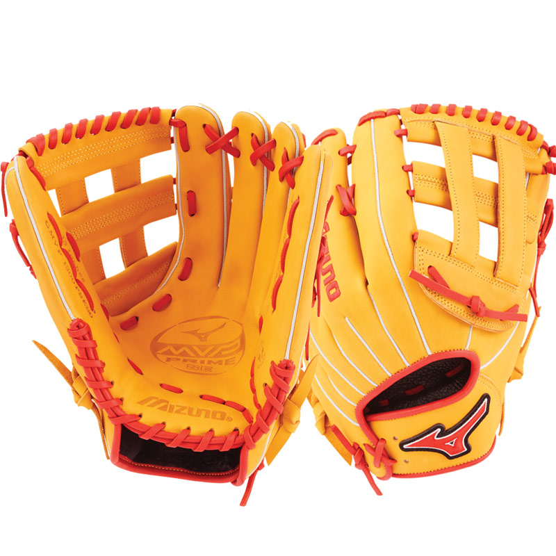 "Mizuno MVP Prime SE Slowpitch Softball Glove 13"" Cork/Red GMVP1300PSES6 312530"