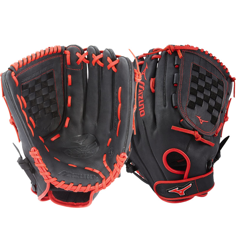 "Mizuno MVP Prime SE Slowpitch Softball Glove 14"" Black/Red GMVP1400PSES6 312531"