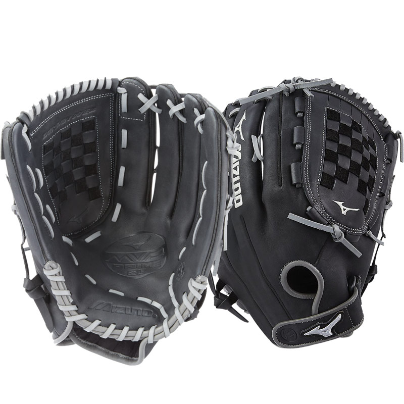 "Mizuno MVP Prime SE Slowpitch Softball Glove 14"" Black/Smoke GMVP1400PSES6 312531"