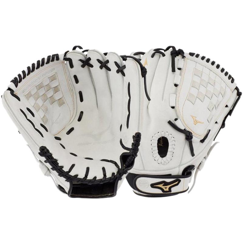 12.0-Inch Mizuno MVP Prime Lefty Leather SE baseball SOFTBALL Glove White Red