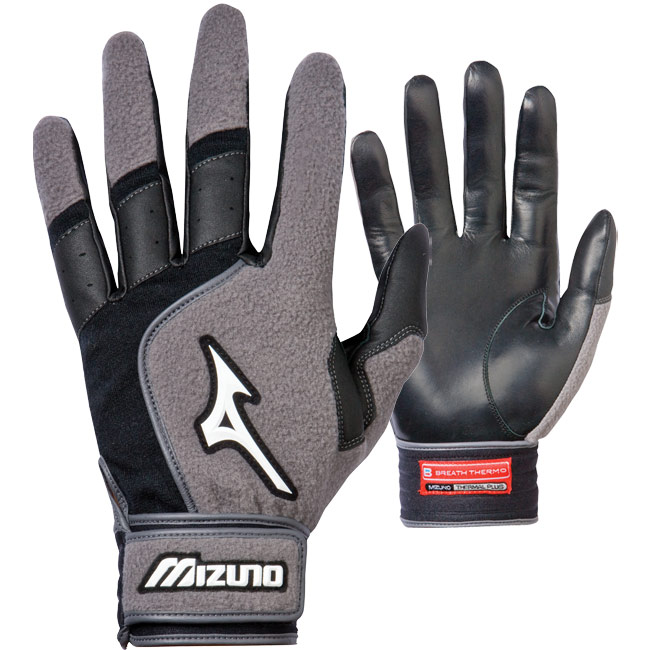 Mizuno Breath Thermo Blaze Batting Gloves Adult Pair