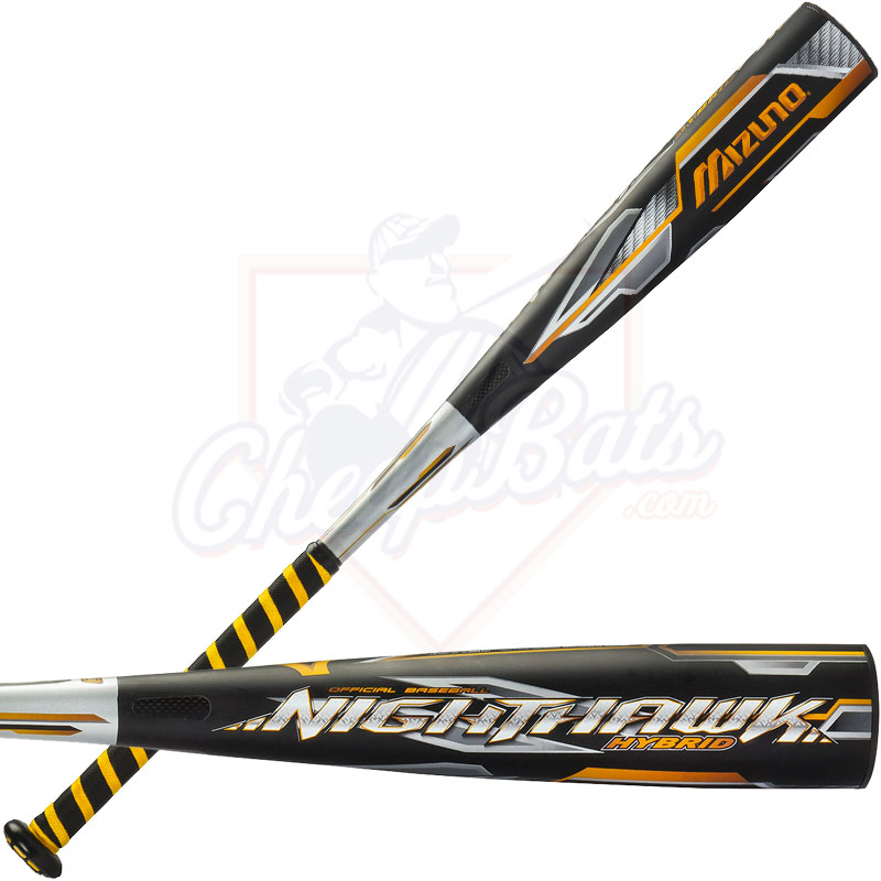 "2016 Mizuno NIGHTHAWK HYBRID Youth Big Barrel Baseball Bat 2 3/4"" -10oz 340352"