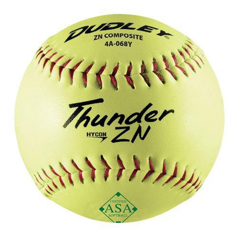 "Dudley 12"" ASA Thunder ZN Hycon Slowpitch Softball (1 Dozen) 4A-068Y"