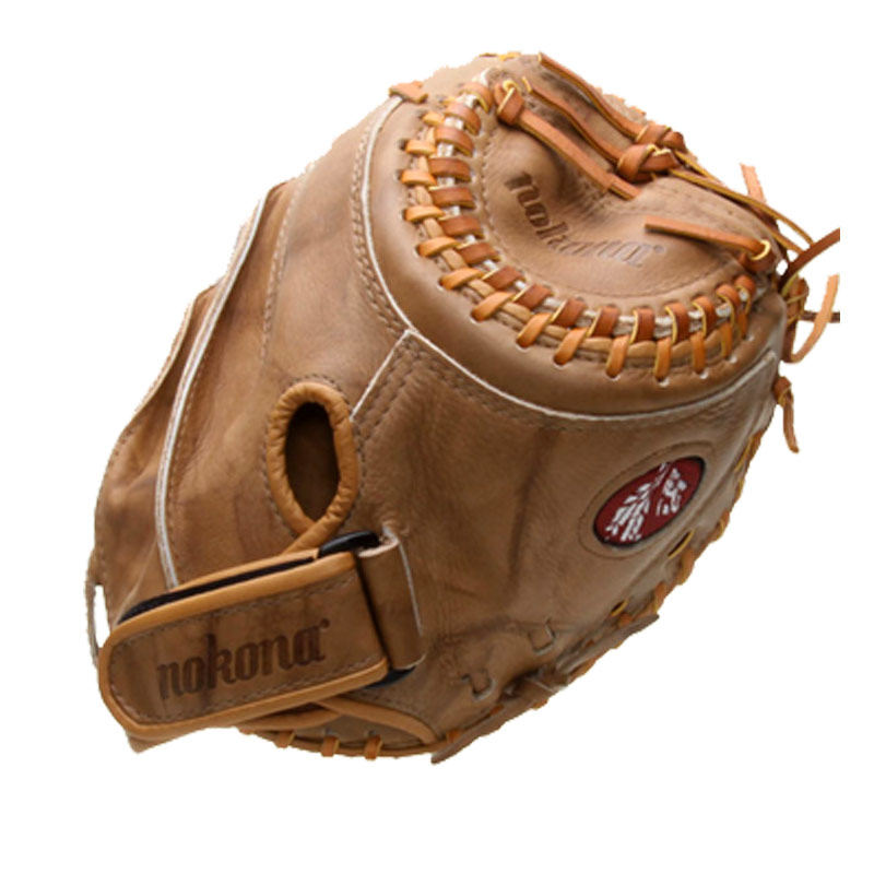 Nokona BTF-3250 Banana Tan Fastpitch Catchers Mitt 32.5""