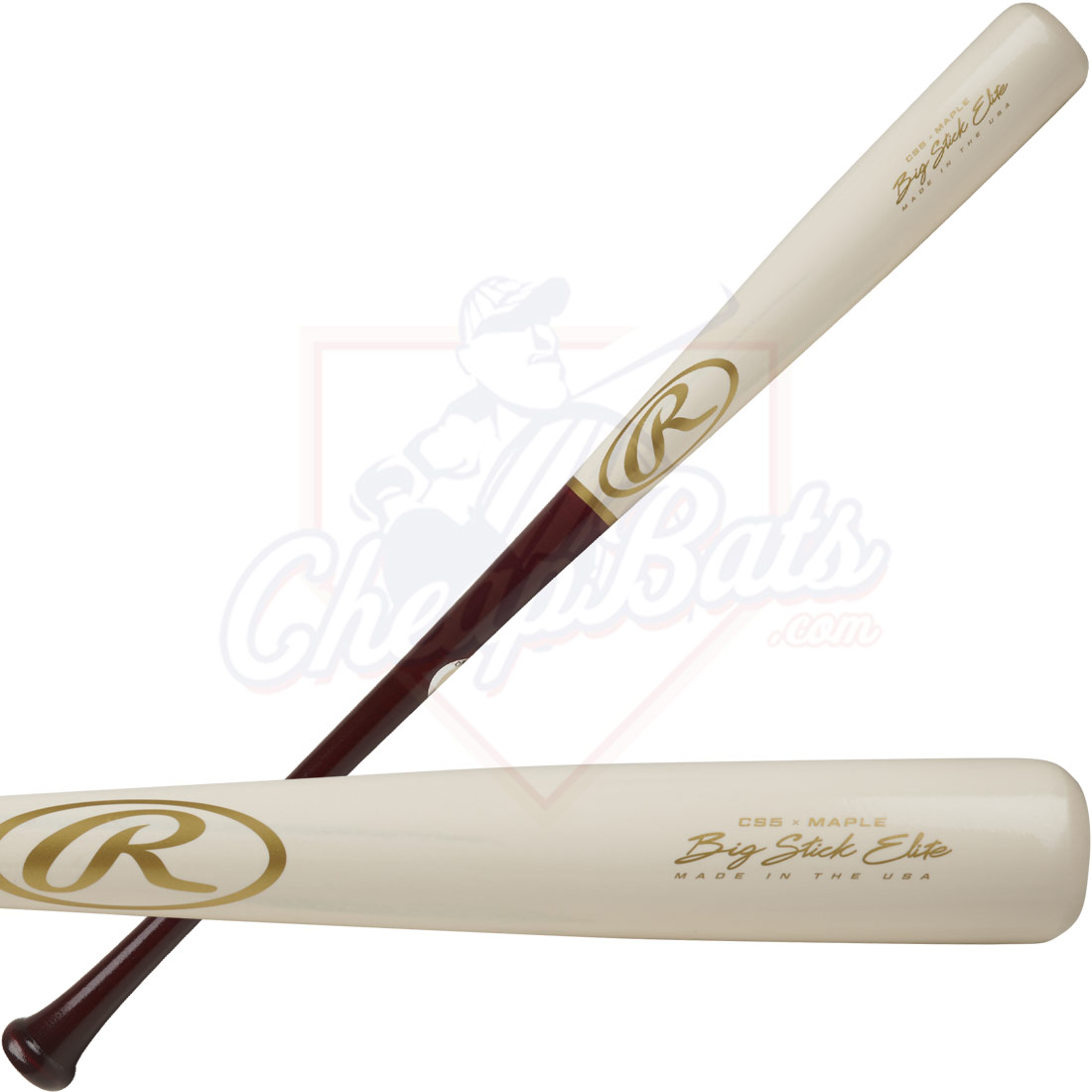 Rawlings Big Stick Elite CS5 Maple Wood Baseball Bat CS5RMW