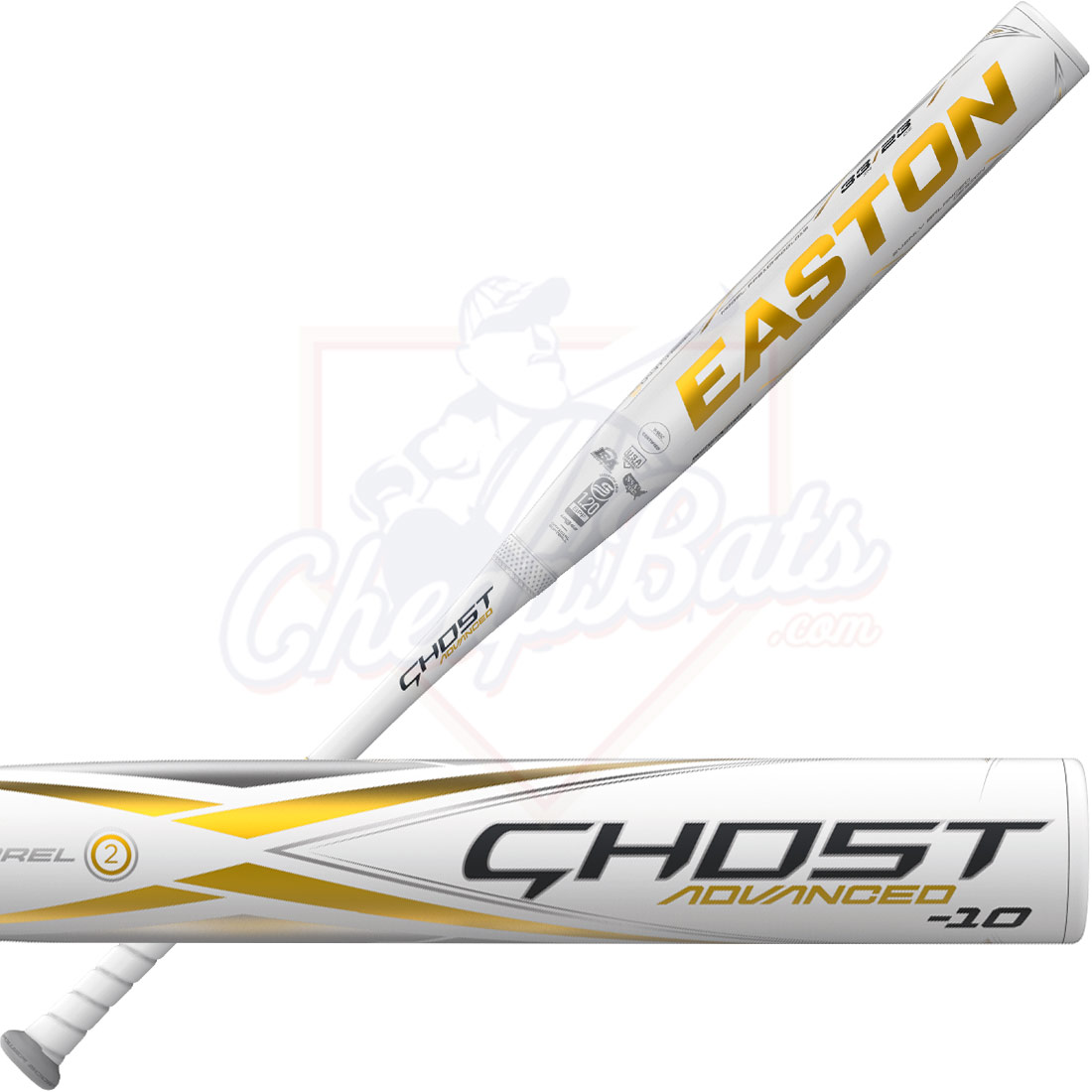 2021 Easton Ghost Advanced Gold Fastpitch Softball Bat -10oz FP21GHADGLD10