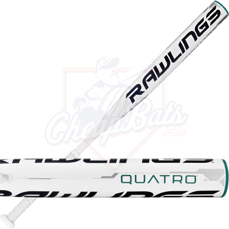 2017 Rawlings Quatro Fastpitch Softball Bat -10oz FP7Q10