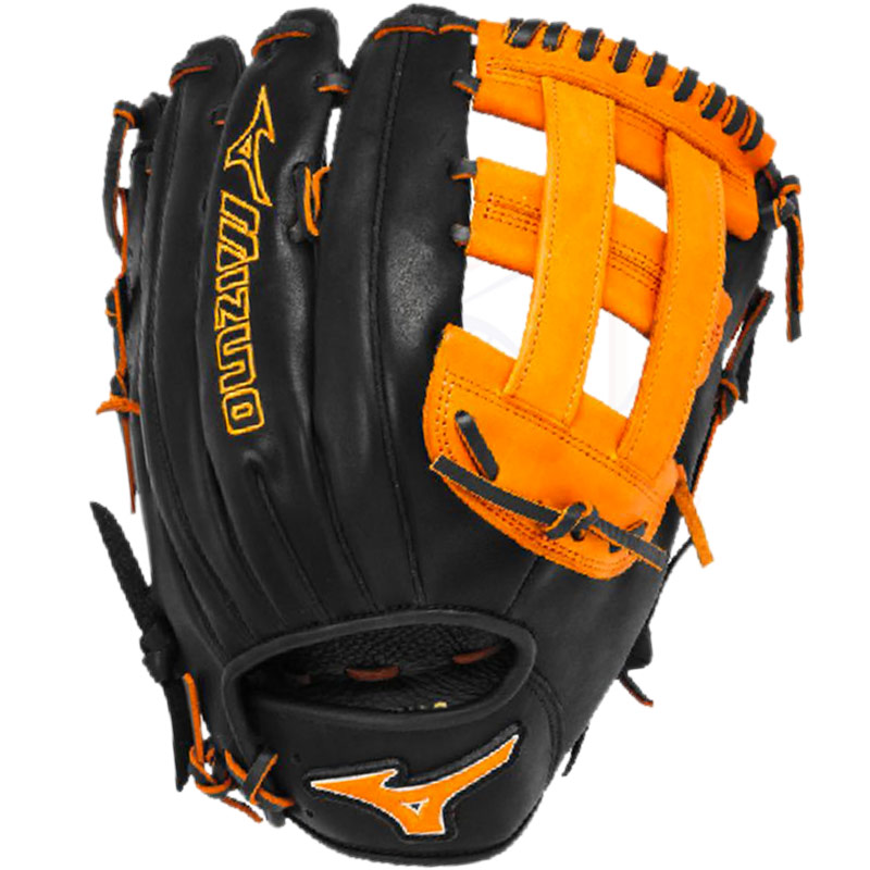 "Mizuno MVP Prime SE Slowpitch Softball Glove 13"" Black/Orange GMVP1300PSES3"