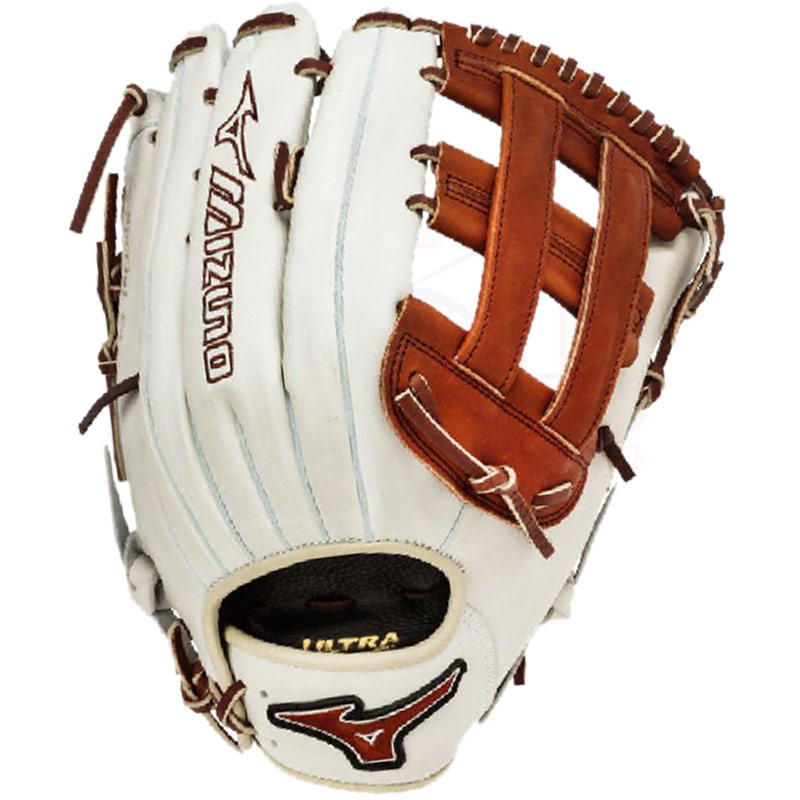 "Mizuno MVP Prime SE Slowpitch Softball Glove 13"" Silver/Brown GMVP1300PSES3"