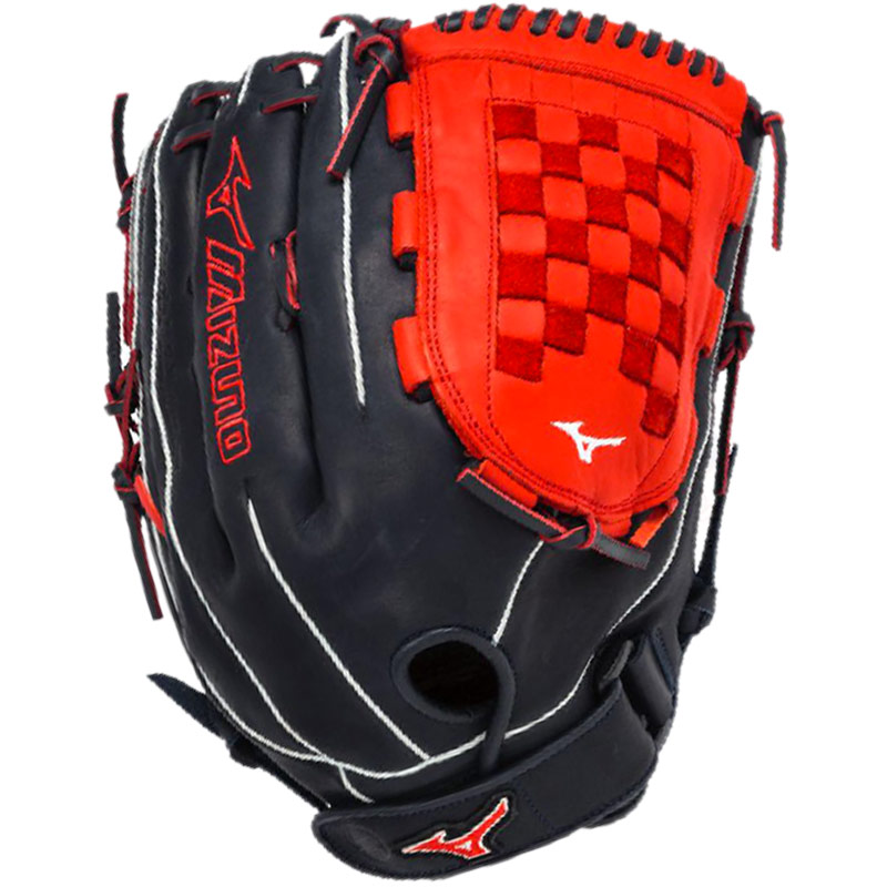 "Mizuno MVP Prime SE Slowpitch Softball Glove 14"" Navy/Red GMVP1400PSES3"