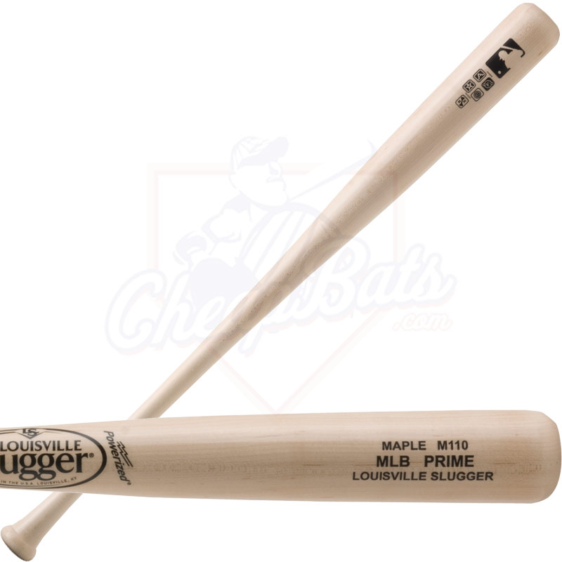 Louisville Slugger MLB Prime Maple M110 Wood Baseball Bat WBVM110-NG