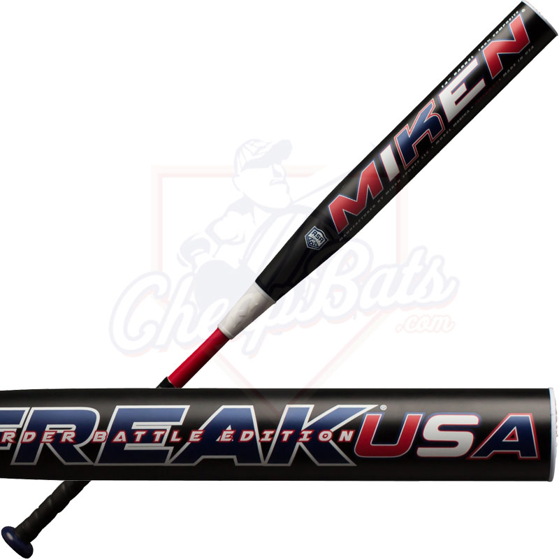 2017 Miken Freak Usa Border Battle Slowpitch Softball Bat Supermax Asa Mbbfka