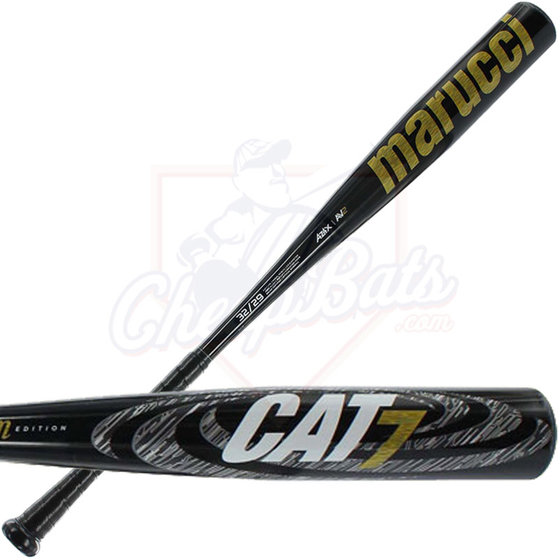 2017 Marucci Cat 7 Black BBCOR Baseball Bat -3oz MCBC7L