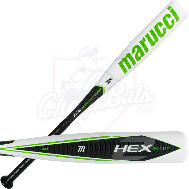 "2018 Marucci Hex Alloy 2 Youth Big Barrel Baseball Bat 2 3/4"" -10oz MSBHA2X10"
