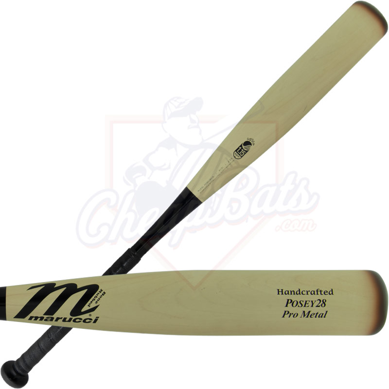 "Marucci Posey 28 Pro Metal Youth Big Barrel Baseball Bat 2 3/4"" -10oz MSBP28X10"