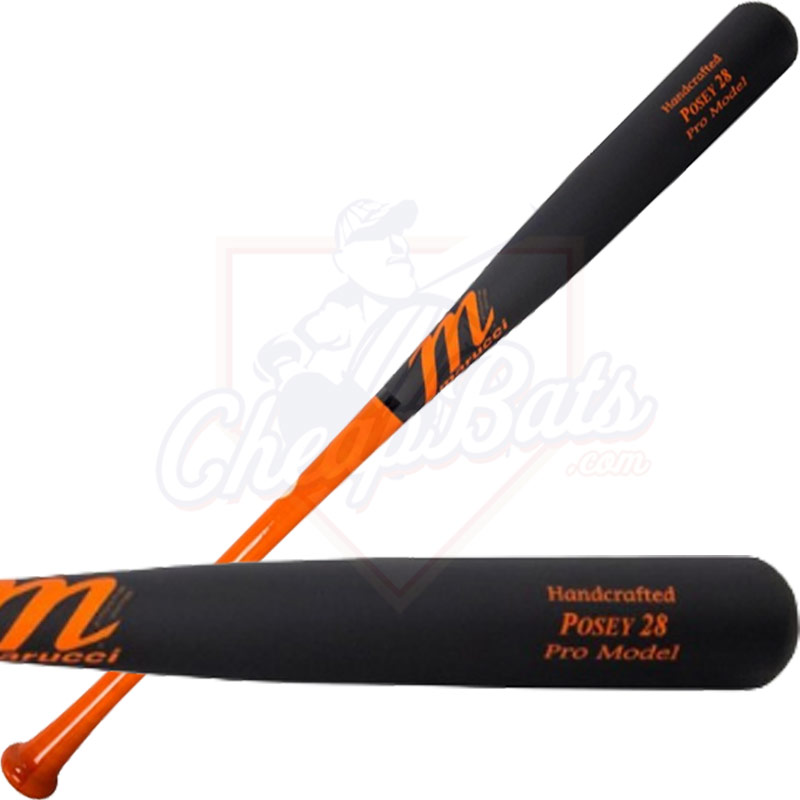 Marucci Buster Posey Pro Model Maple Wood Baseball Bat MVEIPOSEY28-O/MBK