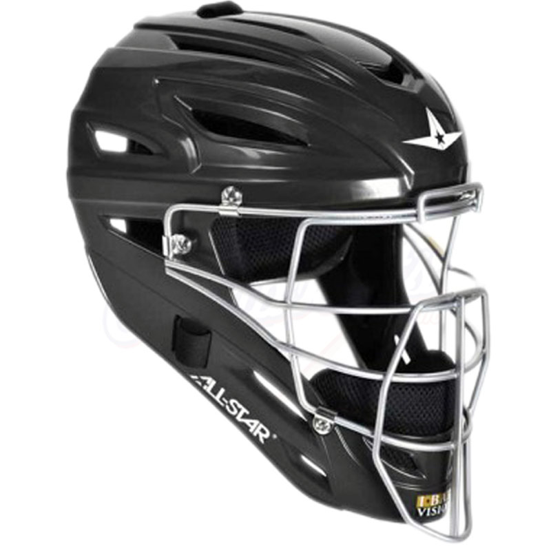 All Star MVP2400 Catcher\'s Helmet with Matte Finish - ADULT