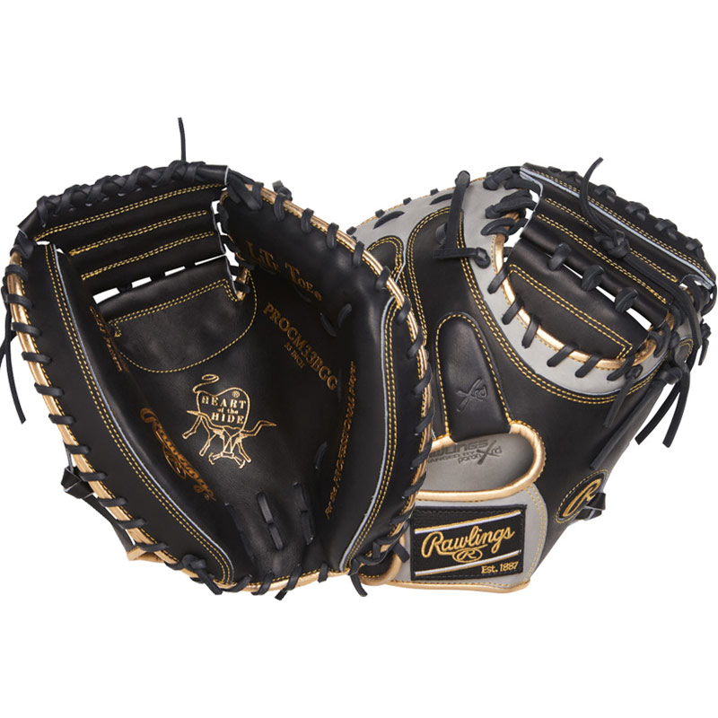 "Rawlings Heart of the Hide Color Sync Series Baseball Catcher\'s Mitt 33"" PROCM33BGG"