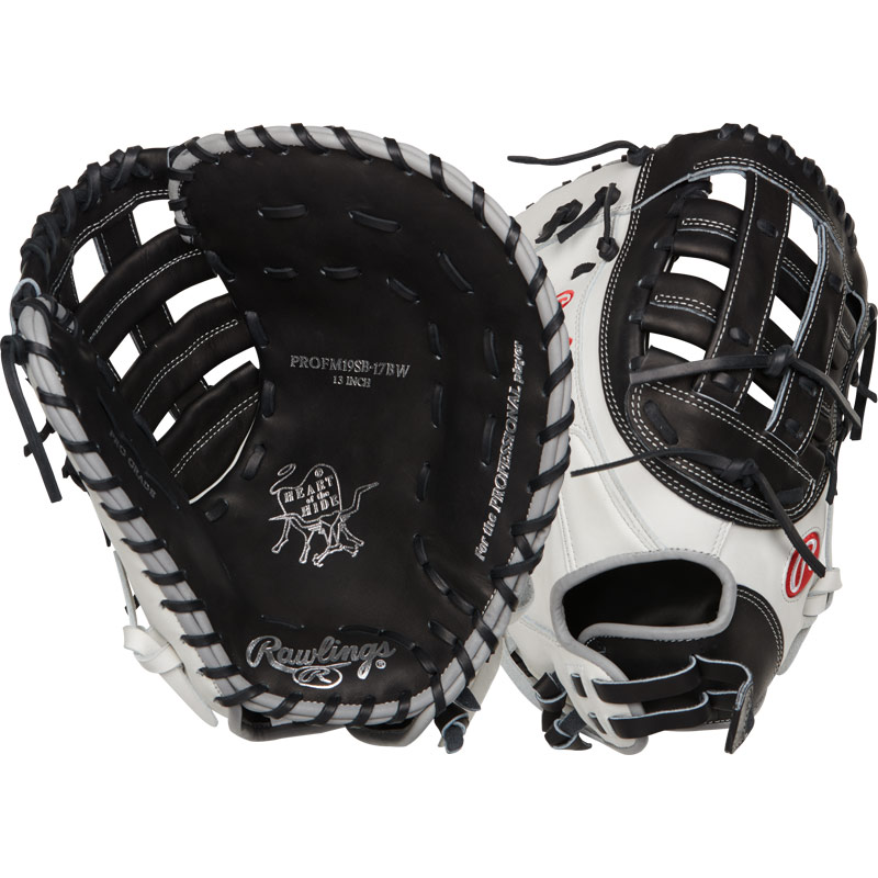 "Rawlings Heart of the Hide Fastpitch Softball First Base Mitt 13"" PROFM19SB-17BW"