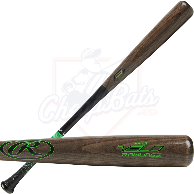 Rawlings Velo Ash Wood Baseball Bat -3oz R271AV