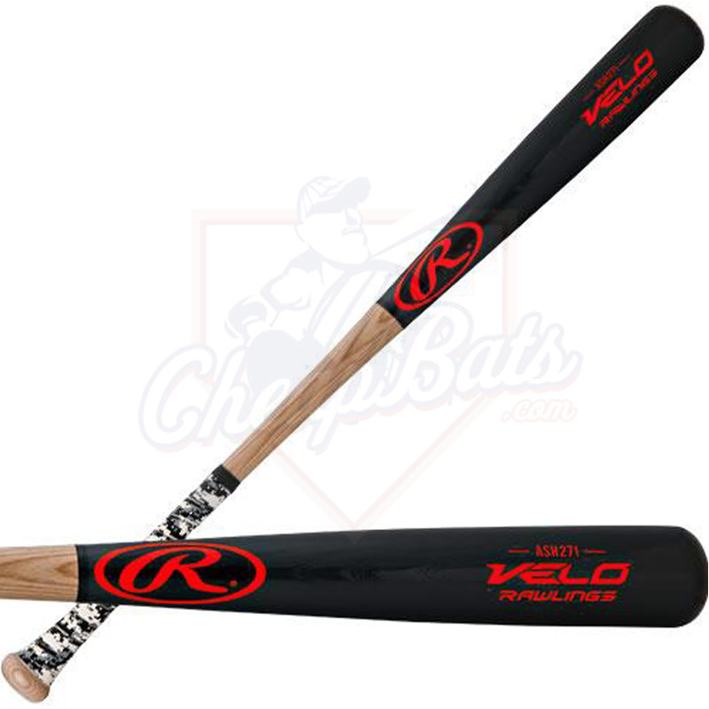 Rawlings Velo Ash Wood Baseball Bat -3oz R271VG