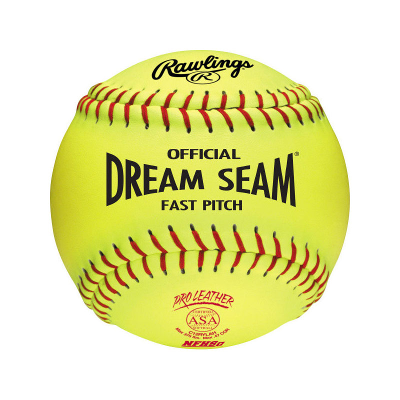 "Rawlings Dream Seam Fastpitch Softball ASA 12"" (1 Dozen) C12RYLAH"