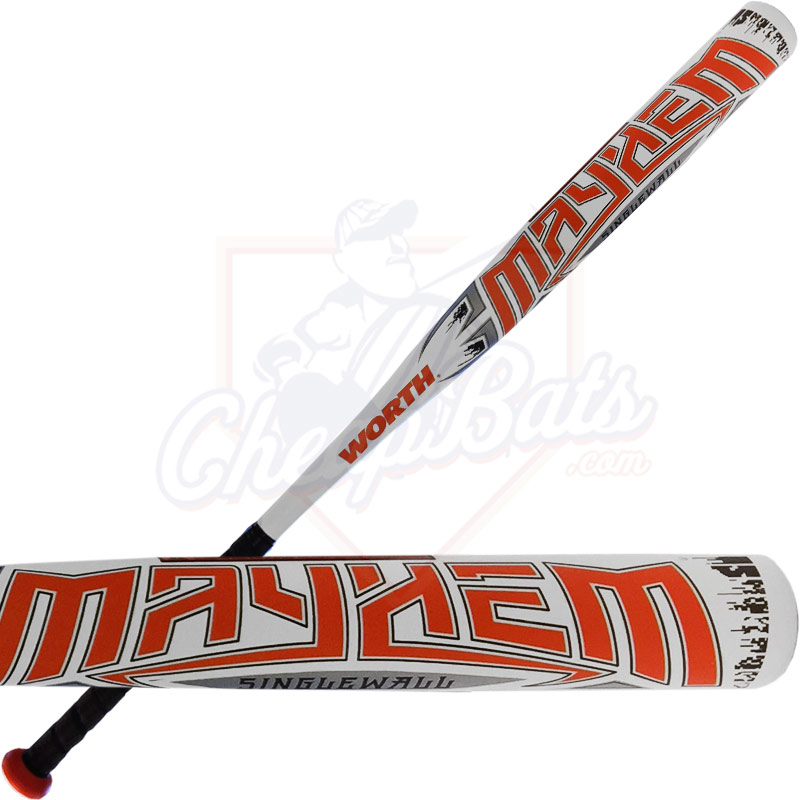 2017 Worth Mayhem Alloy Slowpitch Softball Bat ASA USSSA RETMAY