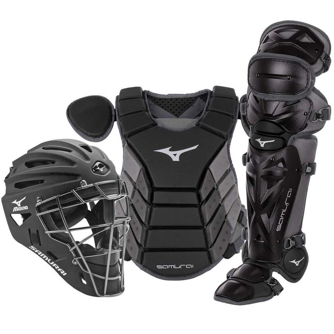 Mizuno Samurai Adult Baseball Catcher\'s Gear Set 380417/380418