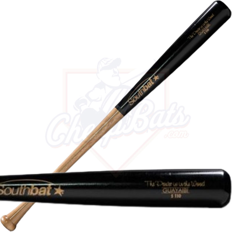 CLOSEOUT SouthBat Guayaibi Wood Baseball Bat 110 Natural/Black SB110-NATBK