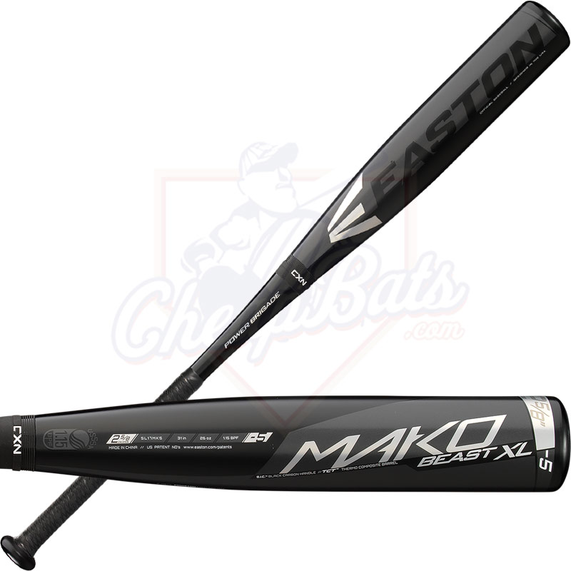 2017 Easton Mako Beast XL Youth Big Barrel Baseball Bat -5oz SL17MK5